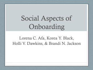 Social Aspects of Onboarding