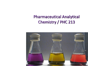 introduction into Analytical Chemistry