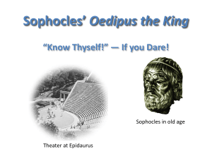 Sophocles* Oedipus the King