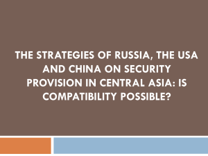 The strategies of Russia, the USA and China on security provision in