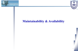 Maintainability Functions