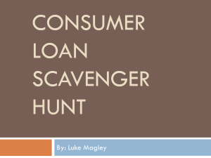 Consumer Loan Scavenger Hunt