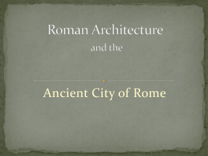 Roman Architecture and the Ancient City of Rome (dcarlile v1)