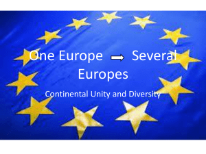 One Europe Several Europes
