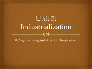1. Arguments Against Imperialism