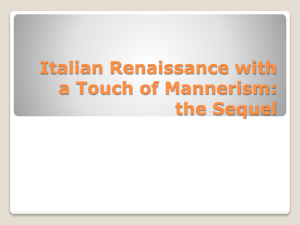 Italian Renaissance with a Touch of Mannerism: the Sequel Andrea