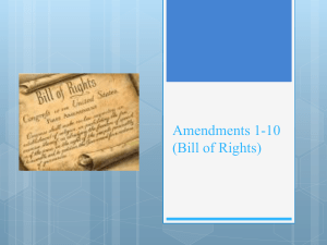Amendments 1-10 (Bill of Rights)