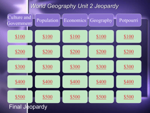 Unit 2 WG Jeopardy