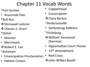 Chapter 11 Vocab Words