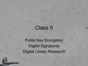 Public Key Encryption and Digital Signatures