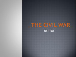 The Civil war - Warren County Schools