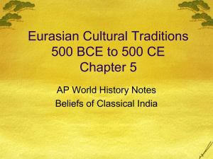 Eurasian Cultural Traditions 500 BCE to 500 CE Chapter 5