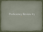 Proficiency Review #3