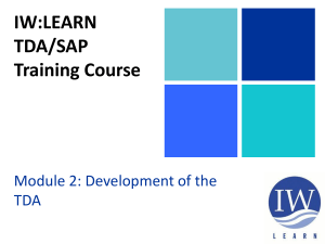 TDA-SAP Module 2 Section 9
