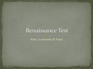 Renaissance Test Part 1