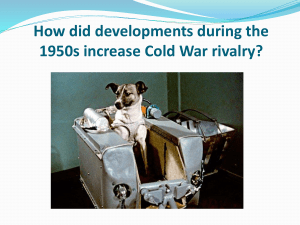 Cold War rivalry – 1950s