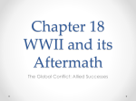 Chapter 18 WWII and its Aftermath