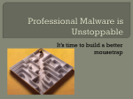 Professional Malware is a Pandemic