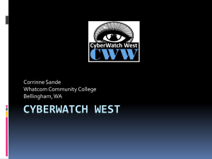 Cyberwatch West - Center of Excellence for Information and