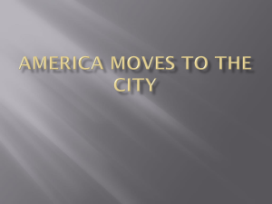America Moves to the City Introduction