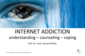 Internet Addiction and Christian Counselling (PPT)
