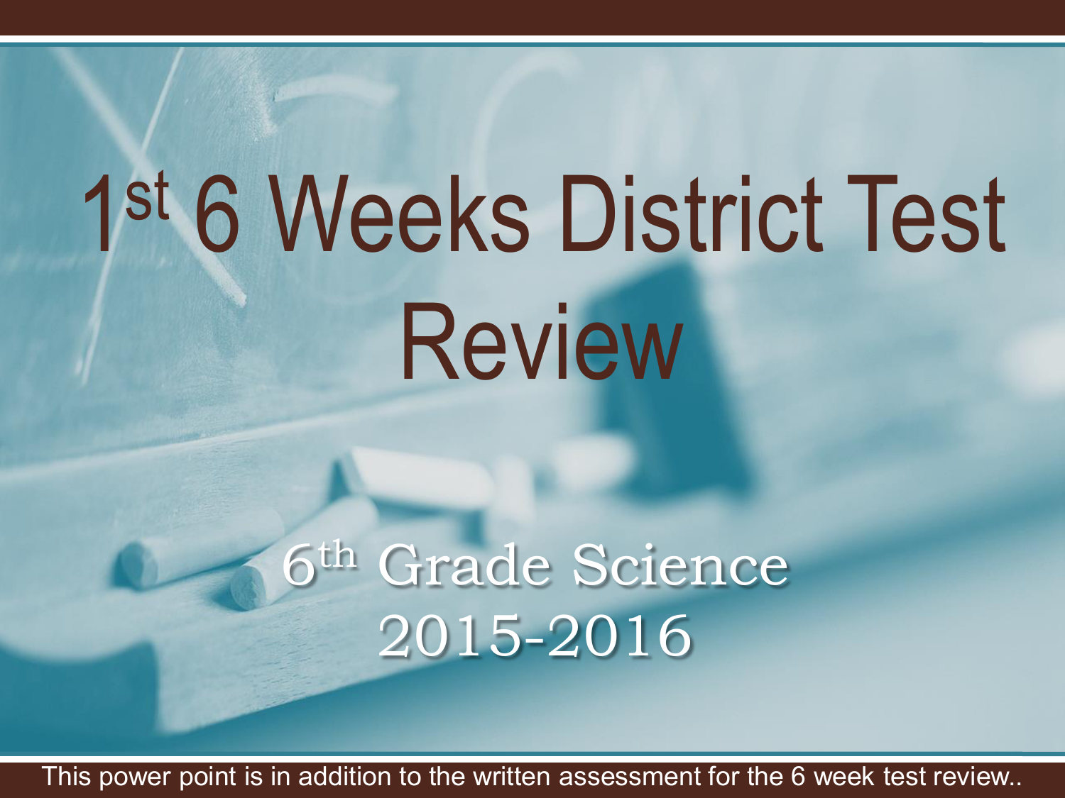 2nd 6 Week Test Review 2015 2016 Ppt