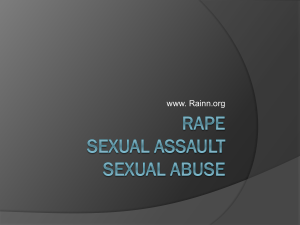 Rape Sexual Assault Sexual aBuse