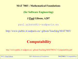 "Introduction to ""Mathematical Foundations for Software Engineering"""
