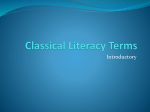 Classical Literacy Terms