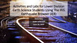 Activities and Labs for Lower Division Earth Science