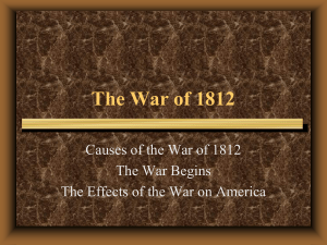 WAR OF 1812 - Doral Academy Preparatory