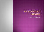 AP Statistics Review - OnCourse Systems For Education