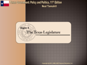 Texas Legislature - HCC Learning Web