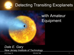 Detecting Exoplanets Talk