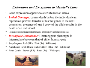 Extensions and Exceptions to Mendel*s Laws