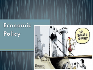 "Economic Policy - ""Should we talk about the government?"""