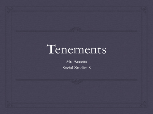 Tenements - Mr. Accetta`s Weebly Page