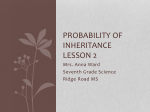 Probability of Inheritance Lesson 2