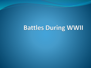 Battles During WWII