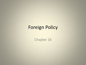 Foreign Policy - fbcagovernment