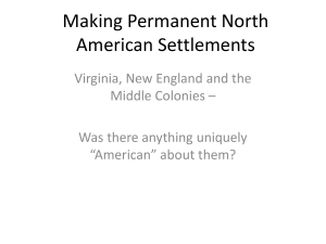 6 Making Permanent North American Settlements, Dr. Sharon Sundue