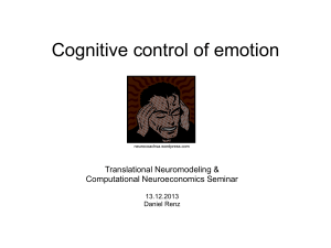 Cognitive control - Translational Neuromodeling Unit