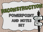 Reconstruction Notes PowerPoint