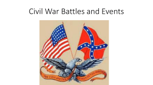 Civil War Battles and Events