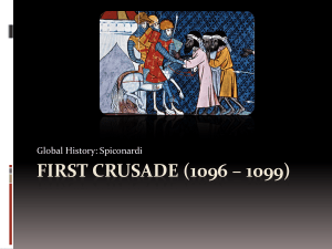 First Crusade - White Plains Public Schools