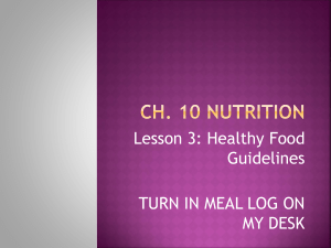 Ch. 10 Nutrition
