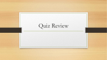 Quiz Review foundations of gov