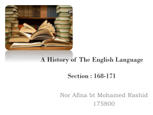 A History of The English Language Section : 168-171