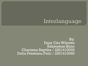 Interlanguage - WordPress.com