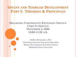 Infant and Toddler Development Part I